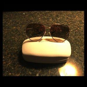 Michael Kors Gold Aviator Sunglasses